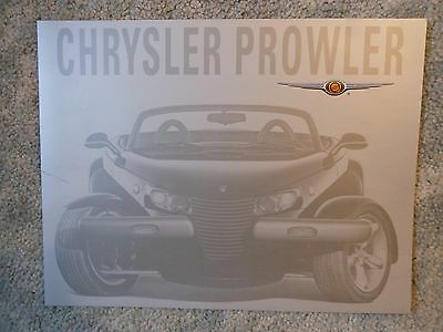 2002 Chrysler Prowler Introductory Color Foldout Auto Show