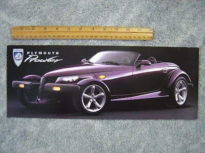 1996 Plymouth Prowler Introductory Sales Folder Purple NEW