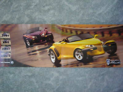 1997 Plymouth Yellow Prowler Sales Folder NEW