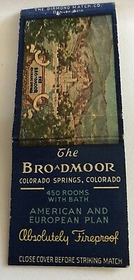 Old Matchbook Cover The Broadmoor Colorado Springs CO