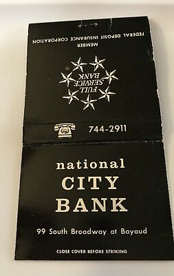 Old Matchbook Cover National City Bank South Broadway At Bayaud