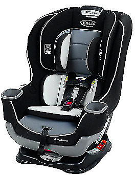 Graco Extend2Fit Convertible childrens Car Seat Gotham black One Size adjustable
