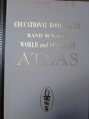 Educational Book Club's Rand Mcnally World and Space Age Atlas b-9