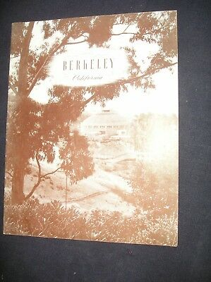 Vintage City of Berkeley California/1930's? Brochure Photos Brown Town/ Quality