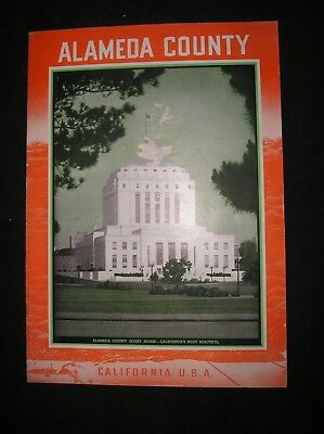 Vintage Alameda County Ca Brochure/1940's?/Fine Condition/Free Shipping