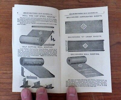 1906-10 Ad Booklet Gedge Bros. Iron Roofing, Anderson, IND; 24 pgs. Lots of Pics