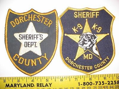 DORCHESTER COUNTY SHERIFF / K9 - MD. set of 2