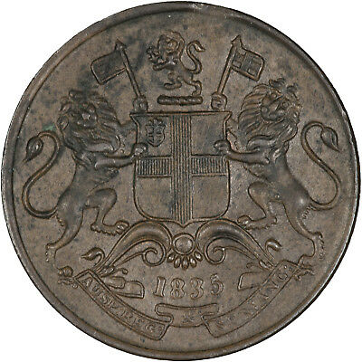 India (British East India Company) 1835 1/4 Anna EF