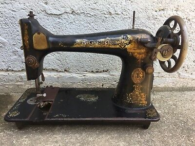 Antique 1910 Singer Sewing Machine Egyptian Sphinx Ornate