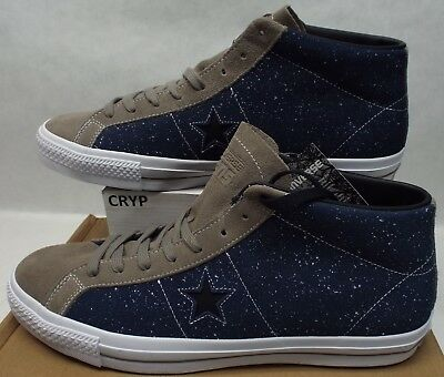 dbb315872487 New Mens 13 Converse One Star Pro Mid Obsidian Malt Leather Shoes  75  155521C