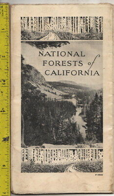 I have a 1929 map National Forests of California U. S. Department of Agriculture