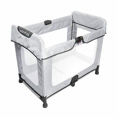 SpaceCot Alfa Baby Child / Sleeping Travel Cot Bed - Silver