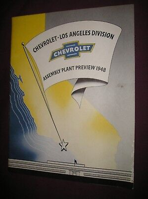 1948 Chevrolet Los Angeles Assembly Plant Preview Brochure/GM/Photos/