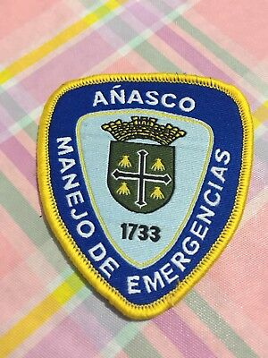 Puerto Rico Police Patch... Office For Emergency Management Añasco
