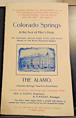 Colorado Springs, Pike's Peak, The Alamo, Cripple Creek Gold Mining Camp Map