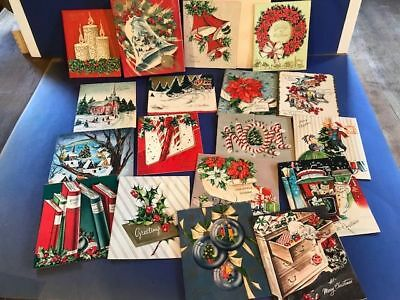 Vintage Box 17 Christmas Cards 1950's unused