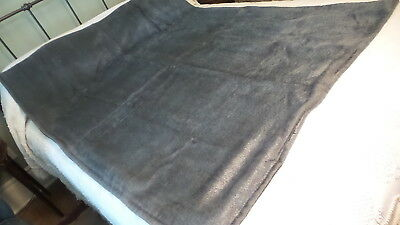 "Antique BUGGY, SLEIGH, CARRIAGE LAP ROBE, 52""X66"", Blue-Gray"