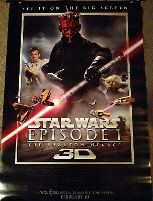 Star Wars Episode I: Phantom Menace 3D Re-Release Movie Poster