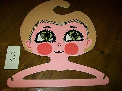2 for 1  Combined Vintage Girl Face Hangers - Dressmaker - Designer -  Antique