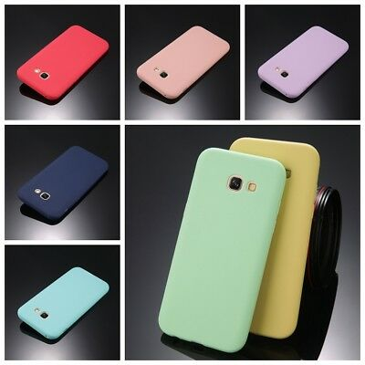 For Samsung A3 A5 A7 J3 J5 J7 Ultra Thin Soft TPU Matte Shockproof Case Cover
