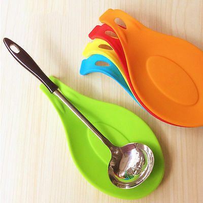 Spatula Tool Spoon Mat Eggbeater Kitchen Gadget Dish Holder Silicone Pad