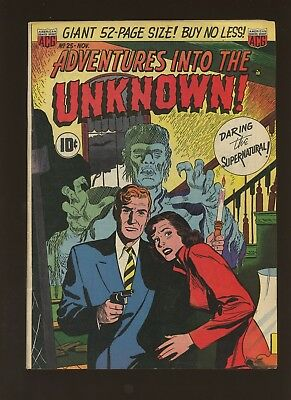 Adventures into the Unknown 25 FN 5.5 *1 Book* 1951,American Comics Group,Horror