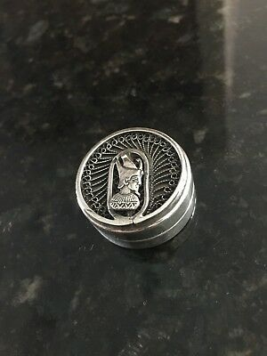 Vintage Egyptian Silver Snuff / Pill Box with Genuine Egyptian Assay Mark