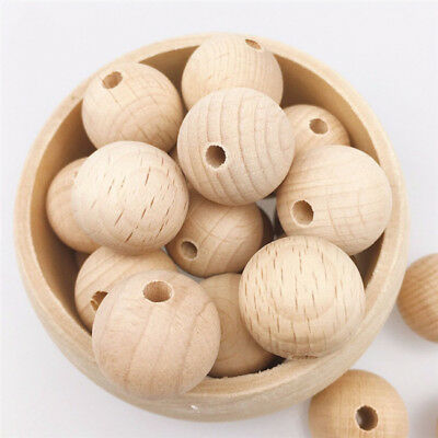 1Bag Round Rondelle Wooden Beads Jewellery Beading Wood Kids PICK COLOUR