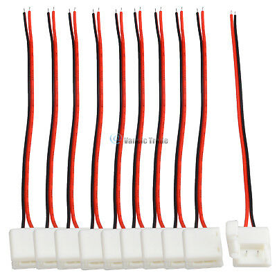 2-pin 8mm Free Solder Connector Cable for SMD 5050 3528 Single Color LED Strips