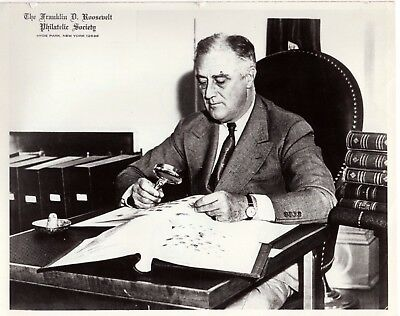 FDR Franklin Delano Roosevelt Philatelic Society Stamp Collector Photo STAMPED