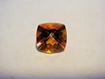 Mystic Orange Topaz Princess Cut Gemstone 8 mm x 8 mm 2.5 carat unique Gem