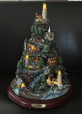 Retired BRADFORD EXCHANGE THOMAS KINKADE HARBOR VILLAGE TREE