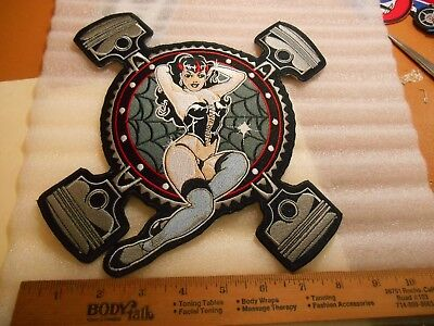 Southern Discomfort Jacket Size Iron on Patch SCANT CLAD GIRL & PISTONS