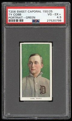 1909-11 T206 Ty Cobb Green Portrait PSA 4.5