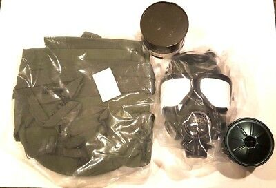 NEW US MILITARY ISSUE M-40 M40 Gas Mask Filters Carry Bag SEALED BAG  MEDIUM