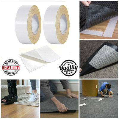 50MM X 3M Carpet Rug DIY Double Sided Tape Roll Self Adhesive Ultra Sticky Tape