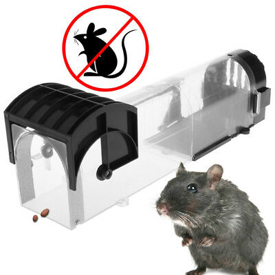 Medial Transparent Plastic Squirrel Cage Blower Mouse Pedal Trap Cage LT