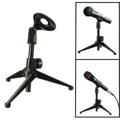 1Pc Adjustable Metal Desktop Table Mic Microphone Clamp Clip Holder Stand Tripod