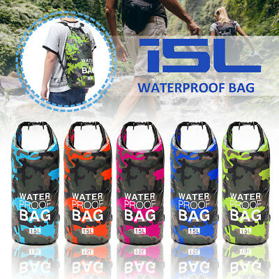 15L Camouflage Waterproof Dry Bag Sack For Floating Boating Kayaking Camping