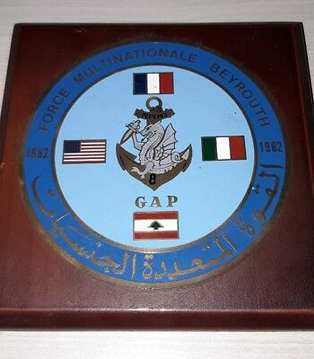 plaque militaire force multinationale Beyrouth