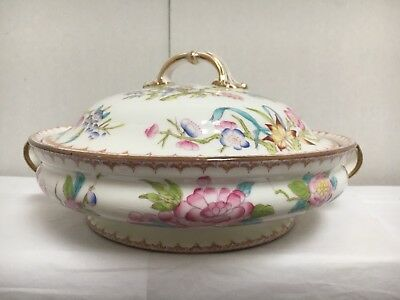 Wright-Tyndale & Van Roden Philidelphia COVERED CASSEROLE Vegetable Bowl FLORAL