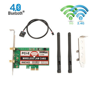 Dual-Band Wi-Fi Adapter PCI-Express 300Mbps Bluetooth Combo For Desktop PC AC109