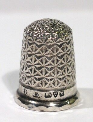 Antique Hallmarked Chester Silver Thimble 1910.