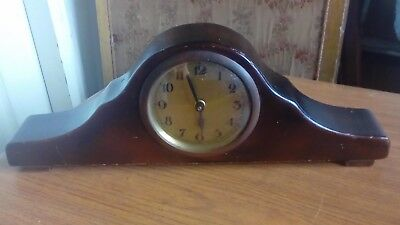 Vintage Napoleon Mantel Clock with Enclosed Pendulum Mechanism (for restoration)