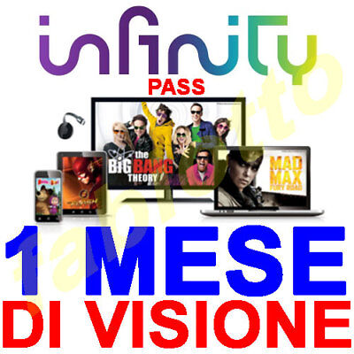 Infinity Pass 1 Mese Di Visione Tv On Demand Film Serie Cartoni Mediaset Codice