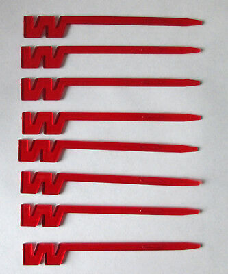 "10 red ""FLYING W"" stir sticks Western Airlines - sold as a lot - DELTA AIRLINES"