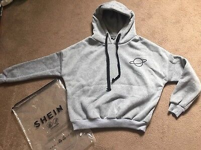 Bnwt Girls Womens Grey Cropped Hoodie Size Small From SHEIN
