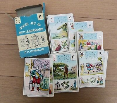 ANCIEN JEU DE CARTES GRAND JEU DIVINATION Melle LENORMAND 54 CARTES