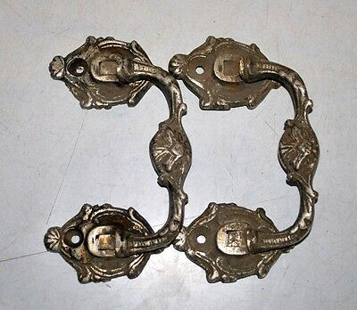 Old Antique India Brass Hand Carved Door Handle Pair Door Knob Home Decor