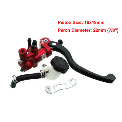 7/8'' LRight Adelin Brake Master Cylinder Hydraulic 16x18mm For Motorcycle Motor